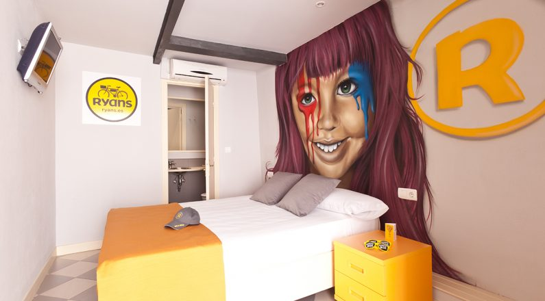 habitacón doble hotel ryans la marina de eivissa