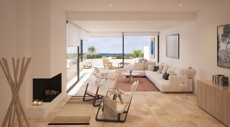 salón de vienda en Ibiza