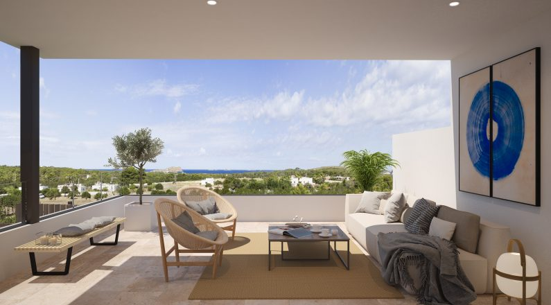 Terraza de vivienda en Ibiza