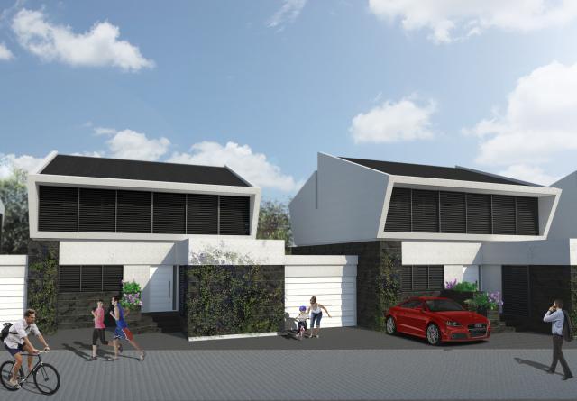 construcción fachada vivienda unifamiliar