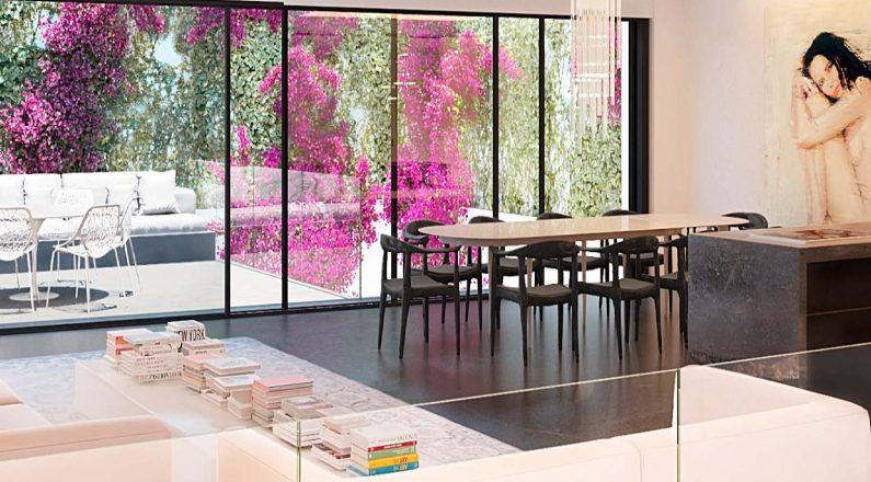 Sala comedor reforma vivienda en Barcelona