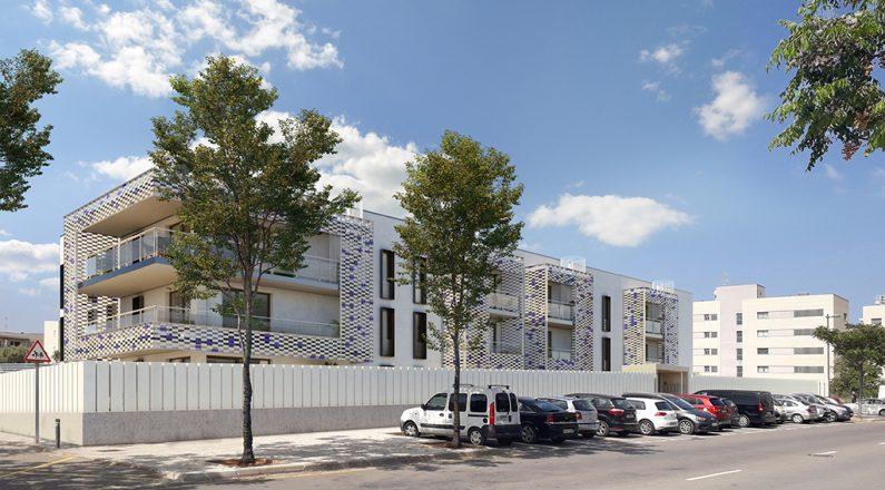 Exterior complejo residencial en Ibiza