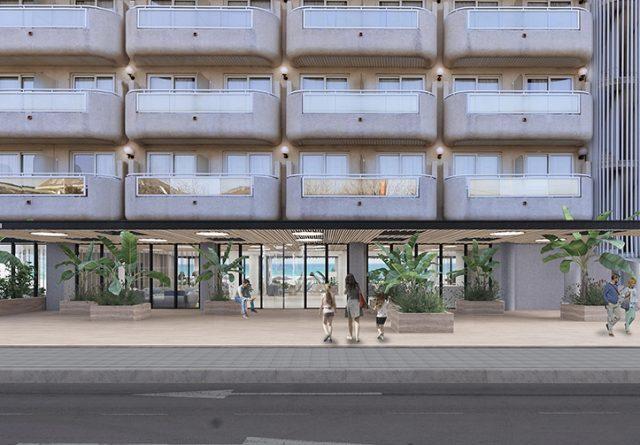 fachada hotel obra reforma