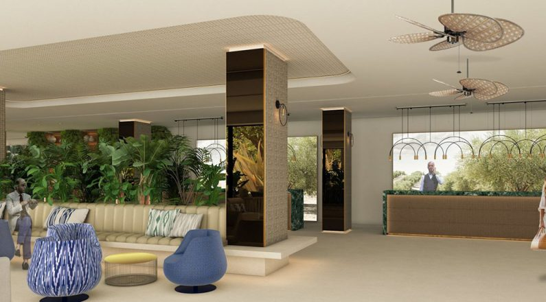 recepcion and lobby hotel